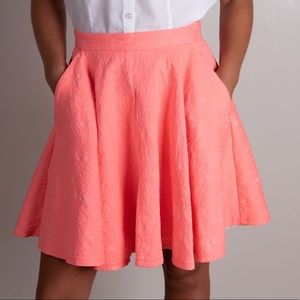 Topshop coral color skirt w/pockets zipper in back
